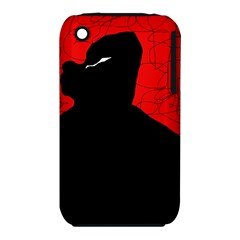 Red And Black Abstract Design Apple Iphone 3g/3gs Hardshell Case (pc+silicone) by Valentinaart
