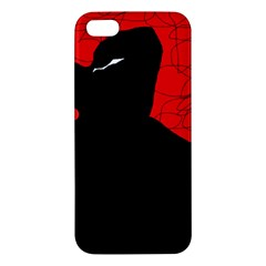 Red And Black Abstract Design Iphone 5s/ Se Premium Hardshell Case by Valentinaart