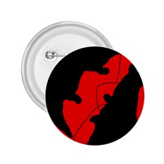 Black And Red Lizard  2 25  Buttons by Valentinaart