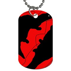 Black And Red Lizard  Dog Tag (two Sides) by Valentinaart