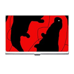 Black And Red Lizard  Business Card Holders by Valentinaart