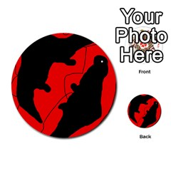 Black And Red Lizard  Multi Purpose Cards (round)  by Valentinaart