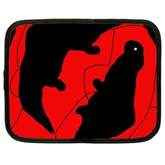 Black And Red Lizard  Netbook Case (large) by Valentinaart
