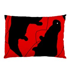 Black And Red Lizard  Pillow Case by Valentinaart