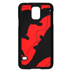 Black And Red Lizard  Samsung Galaxy S5 Case (black) by Valentinaart
