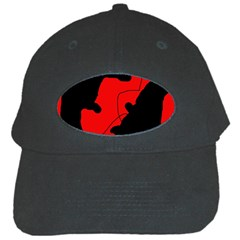 Black And Red Lizard  Black Cap by Valentinaart