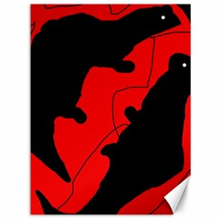 Black And Red Lizard  Canvas 36  X 48   by Valentinaart