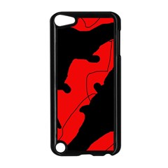 Black And Red Lizard  Apple Ipod Touch 5 Case (black) by Valentinaart