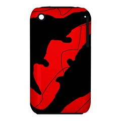 Black And Red Lizard  Apple Iphone 3g/3gs Hardshell Case (pc+silicone) by Valentinaart