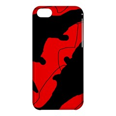 Black And Red Lizard  Apple Iphone 5c Hardshell Case by Valentinaart