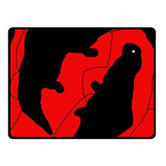 Black And Red Lizard  Double Sided Fleece Blanket (small)  by Valentinaart