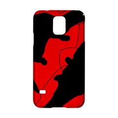 Black And Red Lizard  Samsung Galaxy S5 Hardshell Case  by Valentinaart