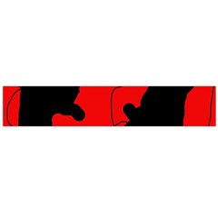 Black And Red Lizard  Flano Scarf (large) by Valentinaart