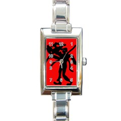 Abstract Man Rectangle Italian Charm Watch by Valentinaart