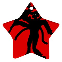 Abstract Man Ornament (star)  by Valentinaart