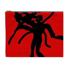 Abstract Man Cosmetic Bag (xl) by Valentinaart