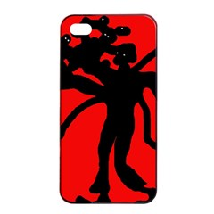 Abstract Man Apple Iphone 4/4s Seamless Case (black) by Valentinaart