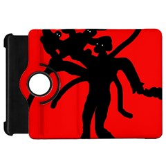 Abstract man Kindle Fire HD Flip 360 Case by Valentinaart