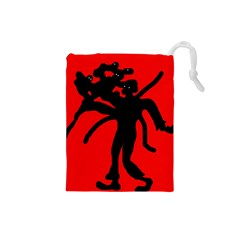 Abstract Man Drawstring Pouches (small)  by Valentinaart