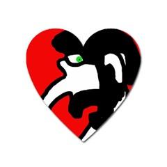Man Heart Magnet by Valentinaart