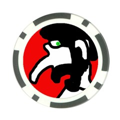 Man Poker Chip Card Guards by Valentinaart