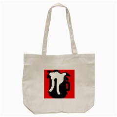 Red, Black And White Tote Bag (cream) by Valentinaart