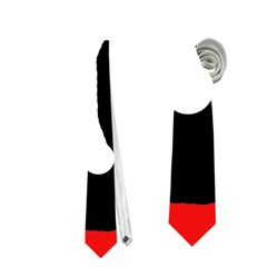 Red, Black And White Neckties (two Side)  by Valentinaart