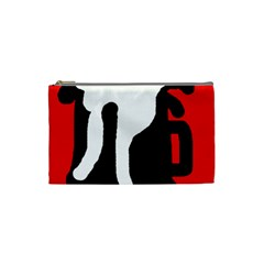 Red, Black And White Cosmetic Bag (small)  by Valentinaart