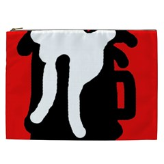 Red, Black And White Cosmetic Bag (xxl)  by Valentinaart
