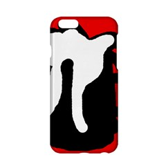 Red, Black And White Apple Iphone 6/6s Hardshell Case