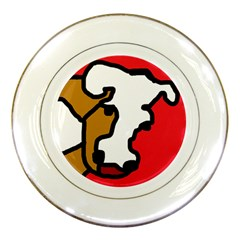 Artistic Cow Porcelain Plates by Valentinaart