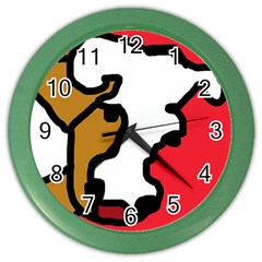 Artistic Cow Color Wall Clocks by Valentinaart