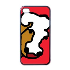 Artistic Cow Apple Iphone 4 Case (black) by Valentinaart