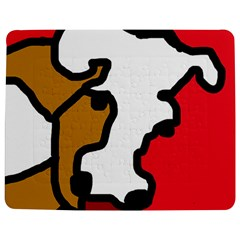 Artistic Cow Jigsaw Puzzle Photo Stand (rectangular) by Valentinaart