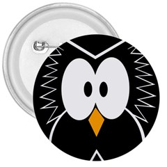 Black Owl 3  Buttons by Valentinaart