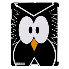 Black Owl Apple Ipad 3/4 Hardshell Case (compatible With Smart Cover) by Valentinaart