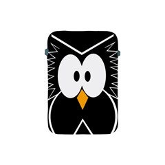 Black Owl Apple Ipad Mini Protective Soft Cases by Valentinaart