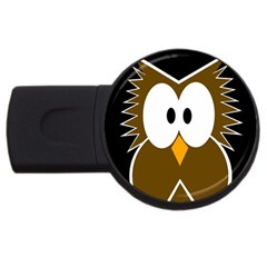 Brown Simple Owl Usb Flash Drive Round (2 Gb)  by Valentinaart