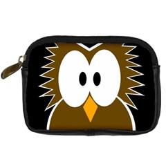 Brown Simple Owl Digital Camera Cases by Valentinaart