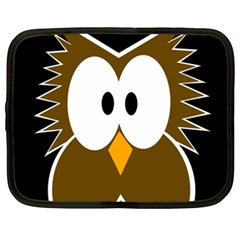 Brown Simple Owl Netbook Case (xxl)  by Valentinaart