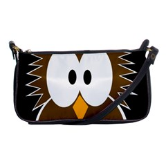 Brown Simple Owl Shoulder Clutch Bags