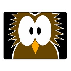 Brown Simple Owl Fleece Blanket (small) by Valentinaart
