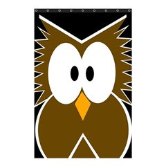 Brown Simple Owl Shower Curtain 48  X 72  (small)  by Valentinaart
