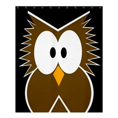 Brown Simple Owl Shower Curtain 60  X 72  (medium)  by Valentinaart