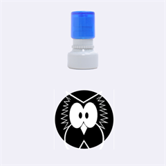 Brown Simple Owl Rubber Round Stamps (small)