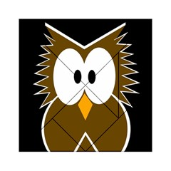 Brown Simple Owl Acrylic Tangram Puzzle (6  X 6 ) by Valentinaart
