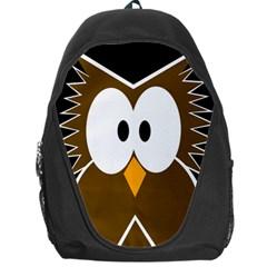 Brown Simple Owl Backpack Bag by Valentinaart
