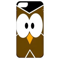 Brown Simple Owl Apple Iphone 5 Classic Hardshell Case by Valentinaart