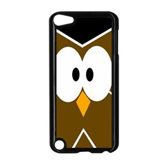 Brown Simple Owl Apple Ipod Touch 5 Case (black) by Valentinaart