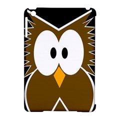 Brown Simple Owl Apple Ipad Mini Hardshell Case (compatible With Smart Cover) by Valentinaart